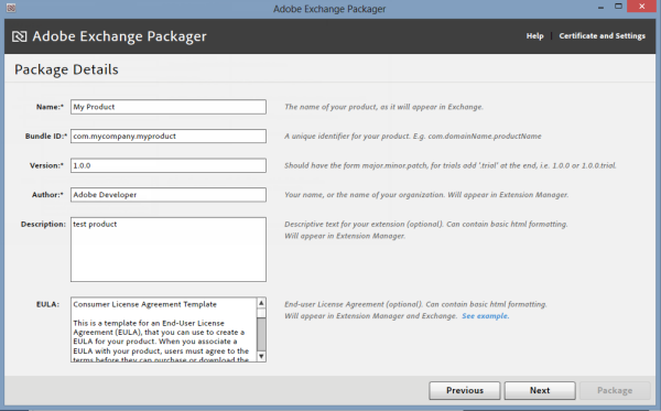Adobe Exchange – End User License Agreement Template